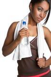 Donna dell'acqua di forma fisica fotografie stock libere da diritti