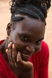 Donna dell'Africano del ritratto immagini stock
