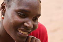 Donna dell'Africano del ritratto Fotografia Stock