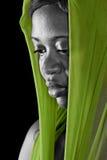 Donna dell'Africano del ritratto Fotografie Stock Libere da Diritti
