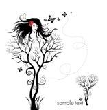 Donna dell'albero Immagine Stock