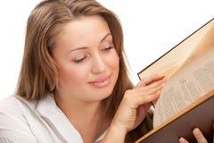 Donna dell'allievo con il libro Fotografia Stock