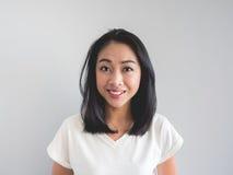 Donna dell'asiatico di sorriso fotografia stock libera da diritti