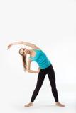 Donna dell'atleta che fa esercizio di forma fisica. Immagine Stock