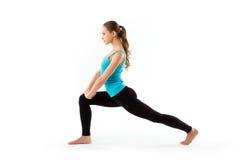 Donna dell'atleta che fa esercizio di forma fisica. Fotografia Stock