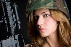 Donna dell'esercito fotografie stock libere da diritti