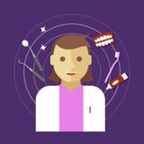 Donna dell'illustrazione di vettore di occupazione del dentista Fotografia Stock Libera da Diritti