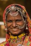 Donna dell'indiano del ritratto Fotografia Stock