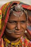 Donna dell'indiano del ritratto Immagine Stock Libera da Diritti