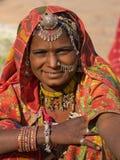 Donna dell'indiano del ritratto Fotografia Stock Libera da Diritti