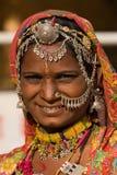 donna dell'indiano del ritratto Fotografie Stock