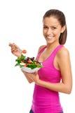 Donna dell'insalata Fotografia Stock