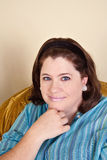 Donna dell'occhio azzurro Fotografie Stock Libere da Diritti