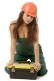 Donna dell'operaio immagine stock libera da diritti