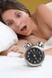 Donna dell'orologio fotografia stock libera da diritti