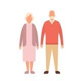 Donna dell'uomo senior, nonna di prima generazione delle coppie integrale illustrazione vettoriale