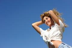 Donna della bionda di bellezza Fotografia Stock