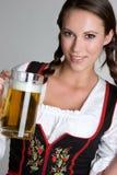 Donna della birra Fotografie Stock