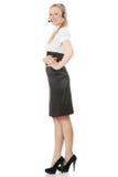 Donna della call center immagine stock libera da diritti