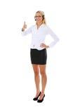 Donna della call center con la cuffia avricolare. Fotografia Stock Libera da Diritti