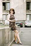 donna della città di affari Fotografia Stock