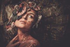 Donna della crisalide Fotografia Stock Libera da Diritti