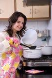 donna della cucina Immagini Stock Libere da Diritti