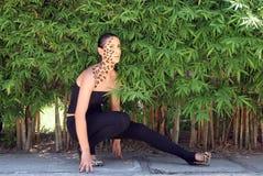 Donna della giungla Fotografia Stock