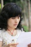 donna della lettura Fotografie Stock
