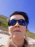 Donna della montagna Fotografia Stock Libera da Diritti