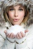 Donna della neve Fotografia Stock Libera da Diritti