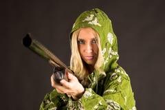 donna della pistola immagini stock