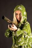 donna della pistola immagini stock libere da diritti