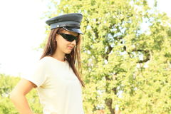 Donna della polizia Immagine Stock Libera da Diritti