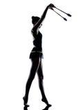 Donna della ragazza del teeenager di ginnastica ritmica Immagine Stock