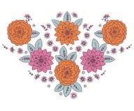 Donna della scollatura floreale Fotografie Stock