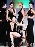 Donna della sfilata di moda Fotografia Stock
