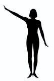 Donna della siluetta Fotografia Stock