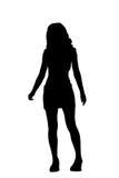 Donna della siluetta Fotografie Stock Libere da Diritti