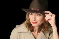 Donna della spia di fantasia fotografie stock