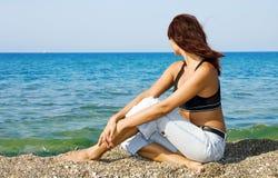 donna della spiaggia Fotografie Stock Libere da Diritti