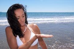 Donna della spiaggia Immagine Stock