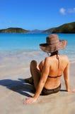 Donna della spiaggia fotografia stock libera da diritti
