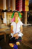Donna della tribù di Kayan Lahwi o di Padong Immagini Stock Libere da Diritti