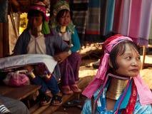 Donna della tribù di Padaung Fotografie Stock Libere da Diritti