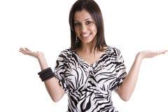 Donna della zebra Fotografie Stock Libere da Diritti
