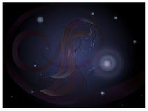 Donna delle stelle Fotografia Stock