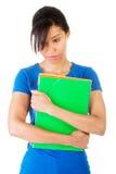 Donna dello studente con la depressione Immagini Stock