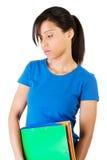 Donna dello studente con la depressione Fotografia Stock Libera da Diritti