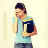Donna dello studente con la depressione Immagine Stock Libera da Diritti